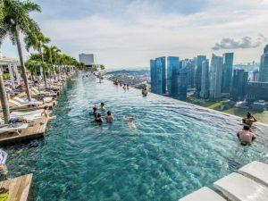 Hotel Marina Bay Sands em Singapura - Piscina - - 5 piscinas pelo mundo