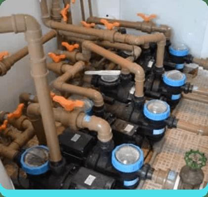 Bombas e filtros para piscinas